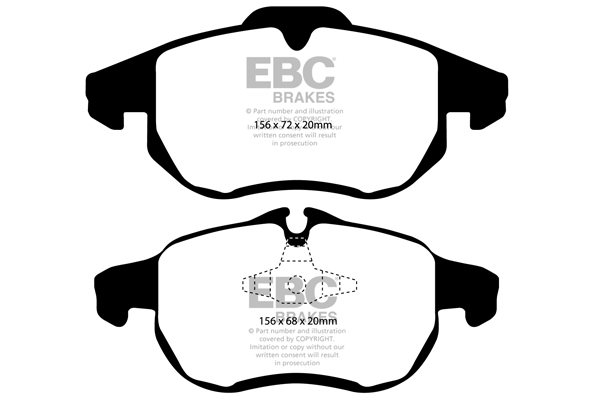 Brake Pads Greenstuff Dp21414 Ebc